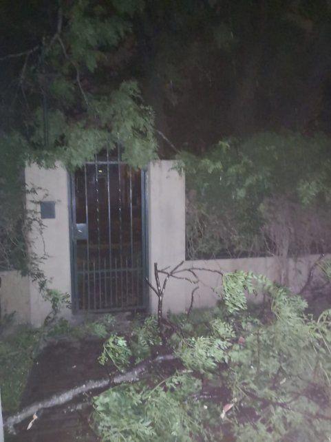 Una fuerte tormenta azotó a Rosario y la región