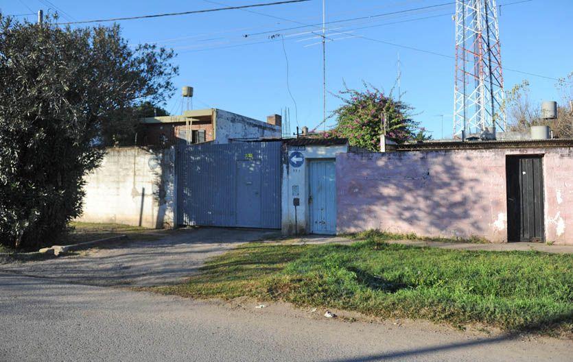 Escena del crimen. Frente a esta vivienda de Caupolicán al 500
