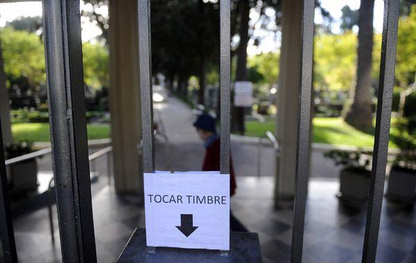 En el Cementerio de Disidentes deben lidiar diariamente con la inseguridad. (foto: Virginia Benedetto)