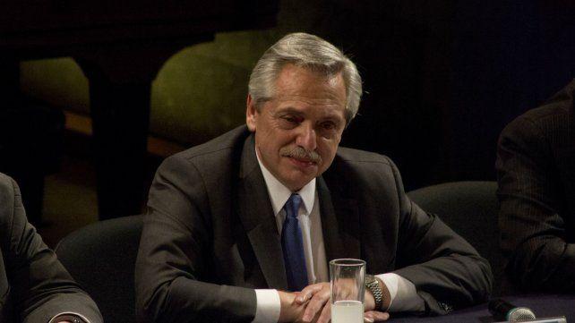 Fernández defendió la ley de emergencia.