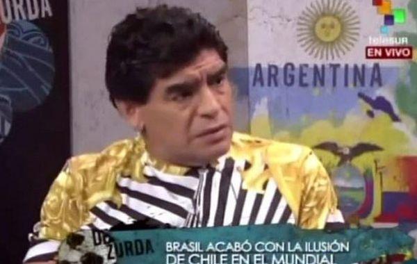 Maradona cargó duro contra la selección de Brasil.