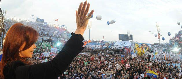 Cristina fue la única oradora en el acto organizado por La Cámpora y el Movimiento Evita.