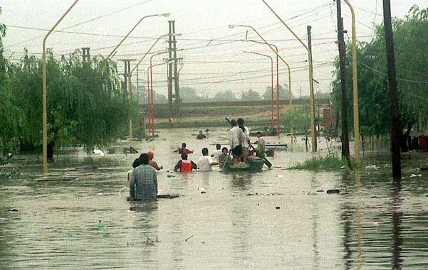 Días de pesadilla. Las inundaciones de 2003 provocaron muertes