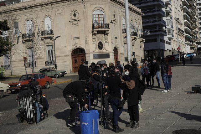 Durante la jornada se grabó en seis locaciones de la ciudad.