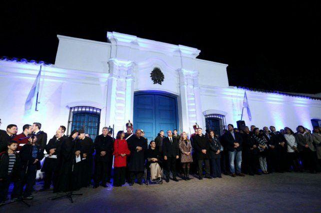 Michetti encabezó el festejo del 9 de Julio en la Casa Histórica de Tucumán