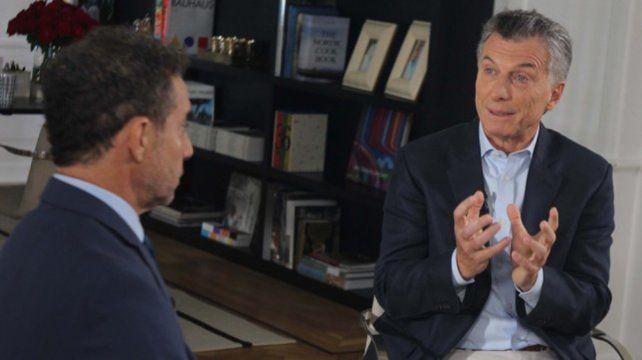 Macri sentenció que la forma y el lugar para resolver el problema es en una mesa de diálogo.