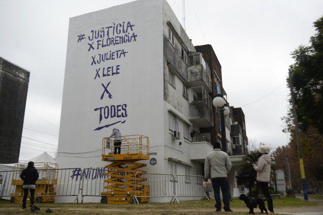 El paredón de Buenos Aires al 4700 donde se plasmará el homenaje a Messi