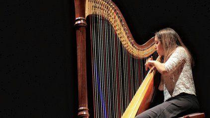 Florencia Arizpe David, en un recital en La Vieja Usina.UNO/Juan Ignacio Pereira