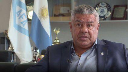 Claudio Tapia, el presidente de la Asociación del Fútbol Argentino.