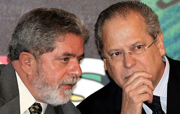 Unidos. José Dirceu con Lula en Brasilia