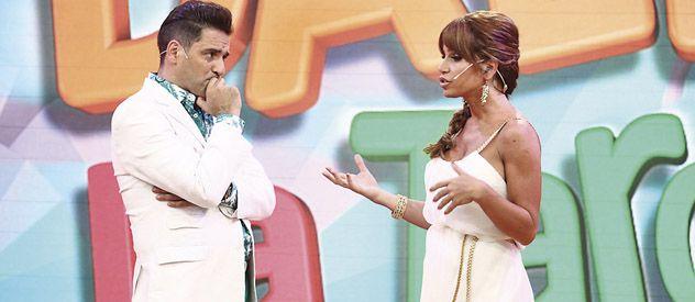 Tensos. Mariano Iúdica se mostró más nervioso que Florencia Peña a la hora de hablar sobre el video prohibido.