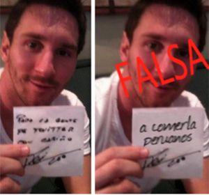 Trucaron una foto de Leo Messi para calentar el duelo de esta noche en Perú