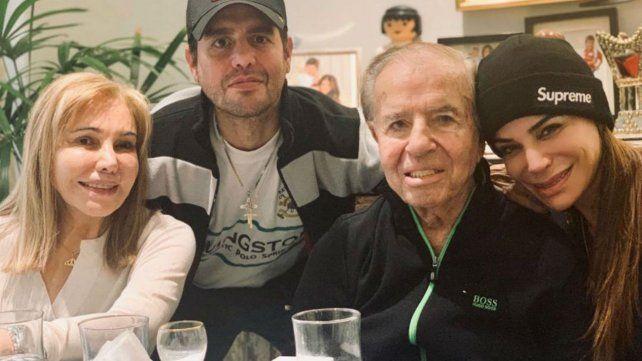Hisoparon a Carlos Menem tras los positivos de Covid 19 de su hija y exmujer