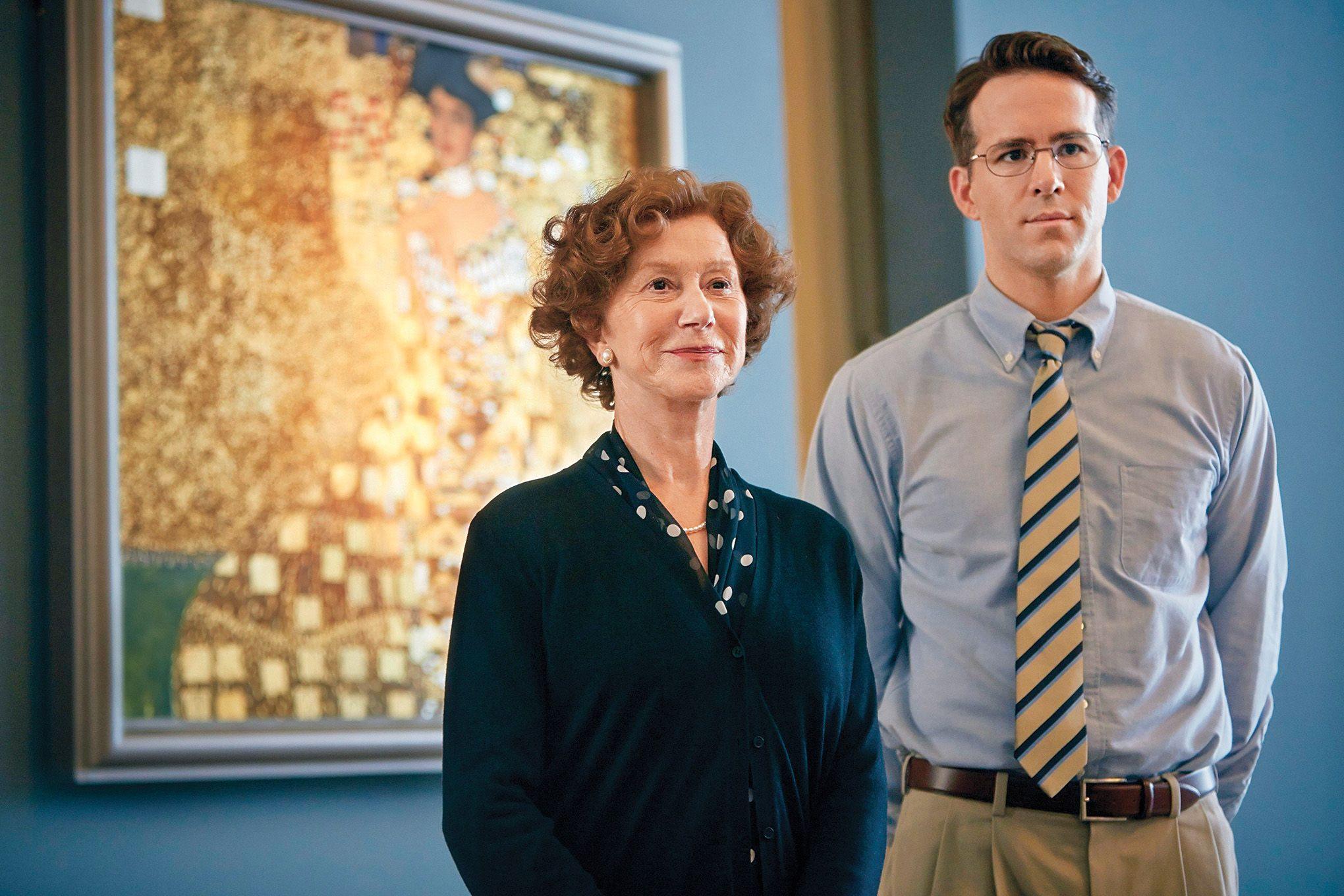 Helen Mirren y Ryan Reynolds interpretan a Maria Altman y el abogado con quien recuperó el cuadro.