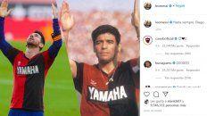 El Instagram de Messi sobre Maradona, con el saludo Hasta siempre, Diego. Hasta las 0 del lunes casi 9,5 millones de personas le habían tildado con les gusta.