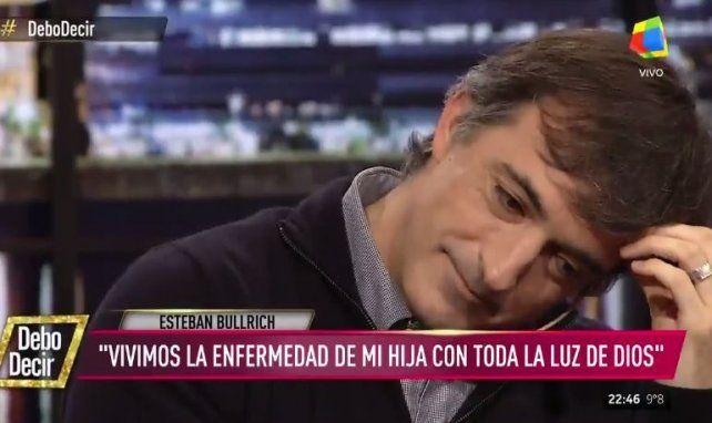 Esteban Bullrich se quebró en vivo al recordar la grave enfermedad que padeció su hija
