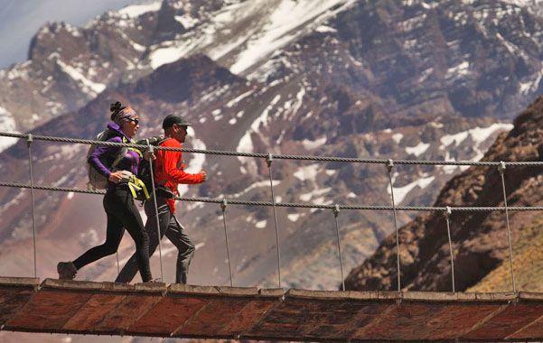 Una pasión. Corredores particulares marchan asiduamente por senderos y valles del Aconcagua ubicados en la provincia de Mendoza.