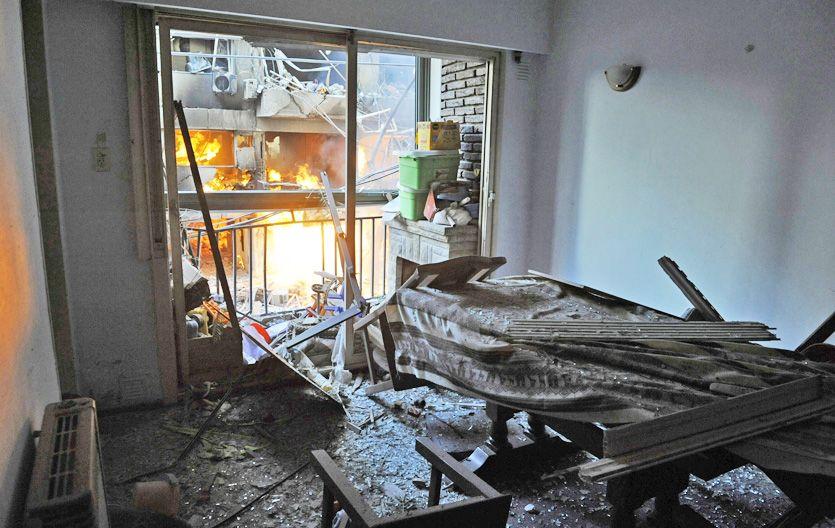 Ruinas. Una muestra de los destrozos que provocó la explosión causada por un escape de gas cuyo exacto origen está en plena investigación. (Foto: N. Juncos)