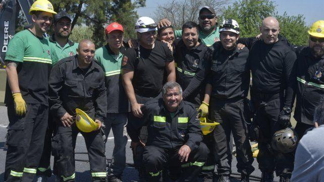 Profesionales que estuvieron a la altura y lograron el rescate