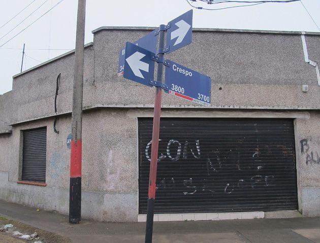 El asalto se produjo en un local de Biedma al 3300. (Foto: A. Celoria)