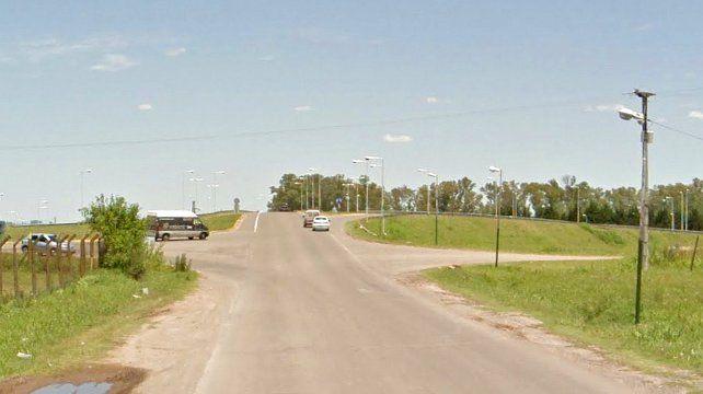 La calle donde ocurrió el accidente.