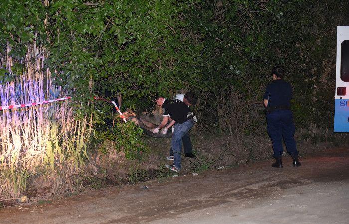 La víctima todavía no fue identificada. (foto: Marcelo Bustamante)