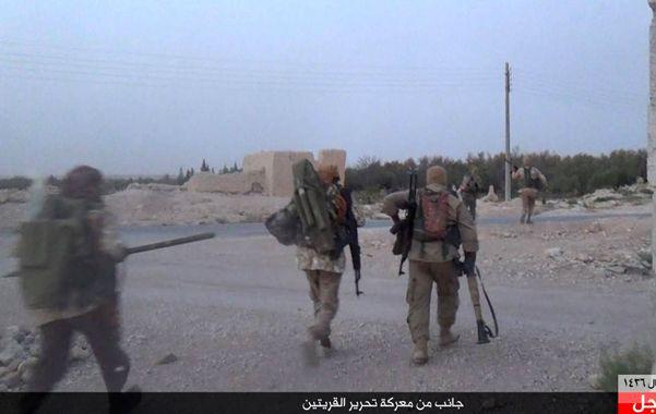 Avance. Los terroristas del Estado Islámico ingresan en la ciudad de Al Qaryatain