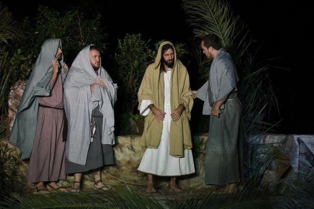 La recreación en el Monumento de las últimas horas de Jesús incluyó una cuidada escenografía.
