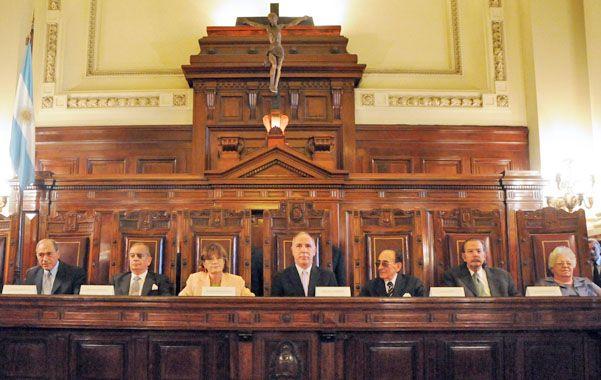 El tribunal en pleno. La Corte dictaminó que no haya modificaciones en el Consejo de la Magistratura.