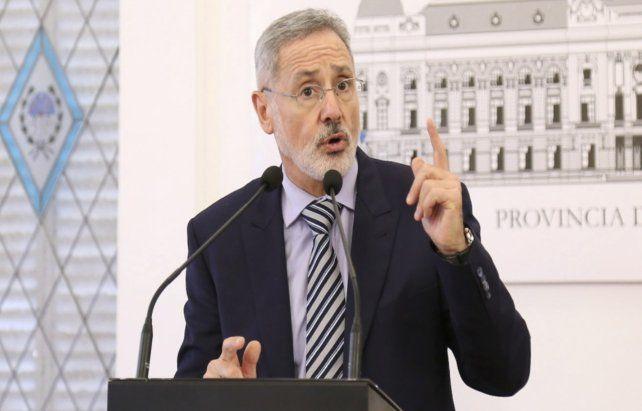 El ministro Saín le respondió al defensor de Pillín Bracamonte. (Foto de archivo)