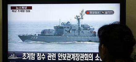Hunden a navío surcoreano frente a costas de Corea del Norte