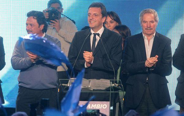 """Tercera fuerza. Massa se refirió a los """"millones de argentinos que no se cerraron en la idea de que el país tenía un solo camino de división de veredas""""."""