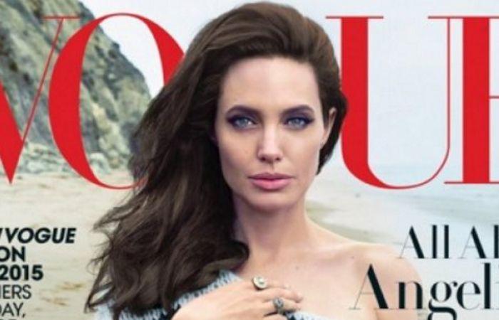 Angelina Jolie realizó su primera tapa para la reconocida revista Vogue.