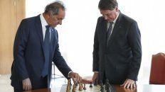 Scioli y Bolsonaro, cuando el argentino le presentó las credenciales de embajador en Brasilia.