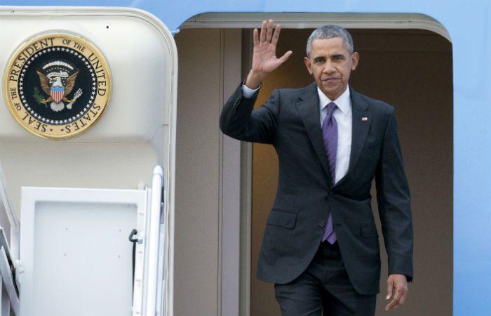 La llegada. Barack Obama quiere pasar un buen momento en Bariloche
