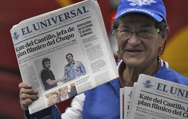 """Exclusiva. La entrevista de Penn con """"El Chapo"""" en la prensa mexicana. La nota causó enorme impacto en México."""