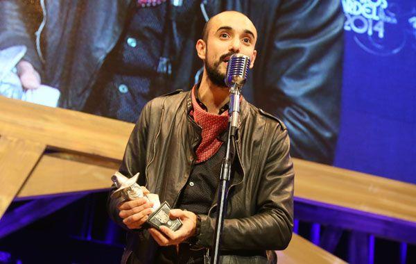 El joven folclorista se quedó por segundo año consecutivo con el Premio Gardel de Oro. (Foto: NA)