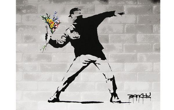 El famoso grafiti de Bansky