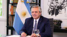El presidente Alberto Fernández festejó el regreso del fútbol gratuito a la TV Pública.