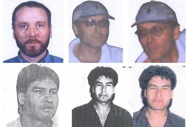 Las imágenes de los detenidos