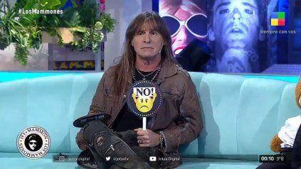 El cantante de Rata Blanca, Adrián Barilari, le dijo que no a Mirtha Legrand en Los Mammones