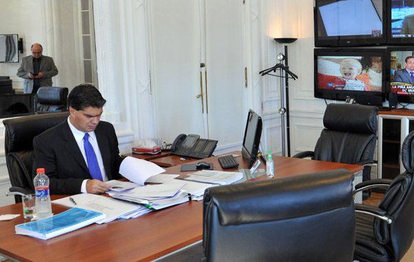 En el despacho. El jefe de Gabinete es el jefe de la administración del país