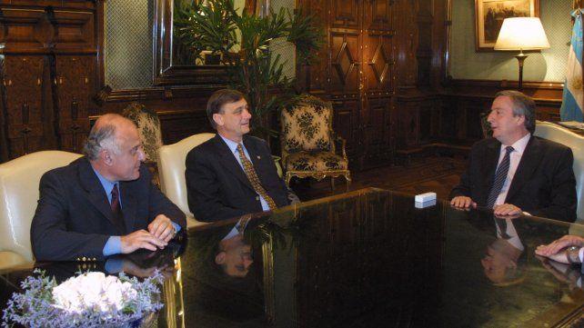 El 1º de diciembre de 2003 Lifschitz y Binner se reunieron con el presidente Néstor Kirchner en la Casa Rosada.
