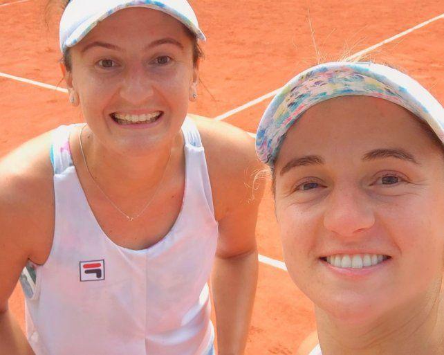La rosarina Nadia Podoroska se metió en los cuartos de final de dobles de Roland Garros