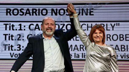 Patricia Bullrich, presidenta del PRO, vino a Rosario a respaldar la candidatura de Charly Cardozo.