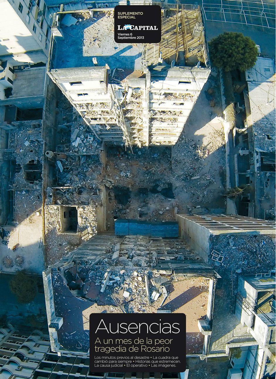 La portada del suplemento especial Ausencias que se edita hoy con el diario La Capital