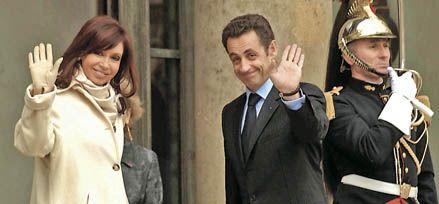 Sarkozy dijo a Cristina que en 2009 quiere visitar las obras del tren bala