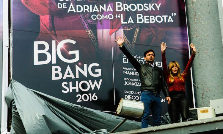 Martín Bossi y Adriana Brodsky durante el lanzamiento en La Feliz de The Big Bang Show