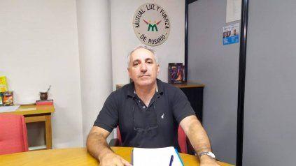 Omar Abramo, presidente de la Mutual Luz y Fuerza de Rosario.