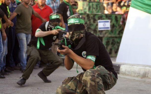 Resistencia. Miembros de la Yihad durante un desfile militar en Gaza.
